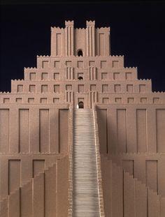 Reconstruction of Ziqqurat of Babylon.  © Vorderasiatisches Museum, SMB - Staatliche Museen zu Berlin, Foto: Olaf M. Teßmer