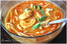 Shrimp coconut curry soup