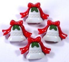 Botões Sino de Natal