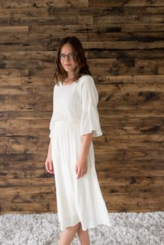Lynna Ivory Mauve Dress, White Dress, Comfortable Fashion, Ivory, Model, Shopping, Beauty, Collection, Dresses