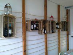 Expositor vinhos em caixa de fruta. #bricopal