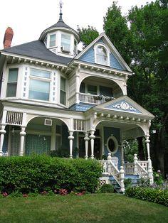 Blue Victorian home
