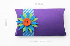 Make youb own pillow boxes.  Perfect for gift card giving:)