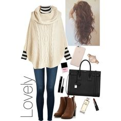 A fashion look from January 2015 featuring Gucci sweaters, J Brand jeans and Yves Saint Laurent shoulder bags. Browse and shop related looks.