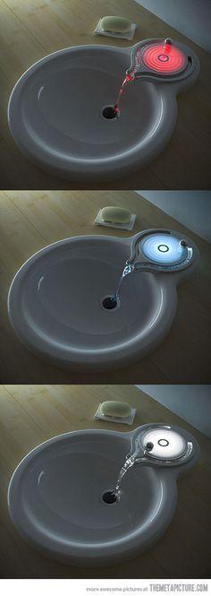creative bathroom sink design lights #creative