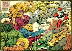 New Gods double page spread by Jack Kirby