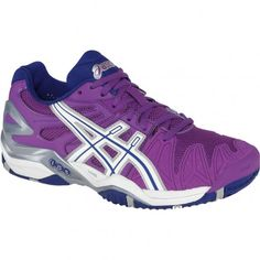 e4e7eb135d20c Asics GEL-Resolution 5 Womens Tennis Shoes E350Y.3601 Grape-White-Silver
