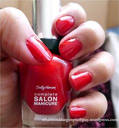 Sally Hansen Complete Salon Manicure Review: Red My Lips
