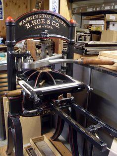 c.1854 R. Hoe & Company Foolscap Washington Handpress by typesticker, via Flickr