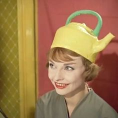 Tape this picture to your closet if you're the type of woman who's afraid of wearing the wrong hat - this will give you courage! Everything But the Kitchen Sink #hats