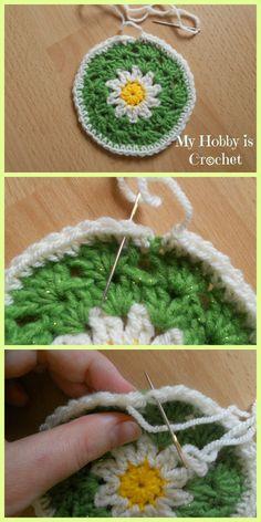 My Hobby Is Crochet: Crochet Daisy/Flower Coaster - Free Pattern with Photo Tutorial