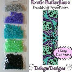 Exotic Butterflies 2 by Debger Designs beaded bracelet kit (pattern sold separately)