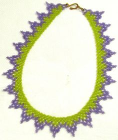 Free Bead Patterns and Ideas : Another Net Weave Necklace FREE Pattern