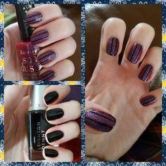 """#nails #nailstagram #nailart #stripingtape #leightondenny #maneater #rimmelspacedust #lunalove"""