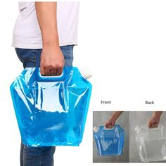5L/10L Outdoor Foldable Folding Collapsible Drinking Water Bag Car Water Carrier Container for Outdoor Camping Hiking Picnic BBQ