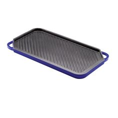 Rachael Ray Cast Iron Reversible Double Burner Griddle / Grill Blue - Giving Gallery