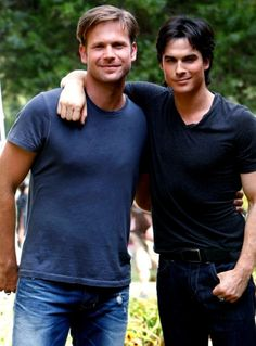 Alaric & Damon on The Vampire Diaries in episode 'Disturbing Behavior' 3x04