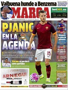 Rassegna stampa estera: Pjanic obiettivo del Real Madrid - http://www.maidirecalcio.com/2015/11/28/rassegna-stampa-estera-pjanic-obiettivo-del-real-madrid.html