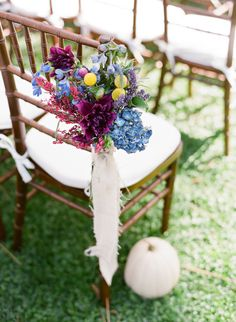a mix of florals and white pumpkins perfect for a #Fall #wedding | Photography by http://lavenderandtwine.com, Design and Florals by http://bellaraines.com  Read more - http://www.stylemepretty.com/2013/10/15/ojai-garden-wedding-from-lavender-twine/