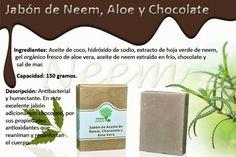 Jabon de Neem, Aloe Vera y Chocolate