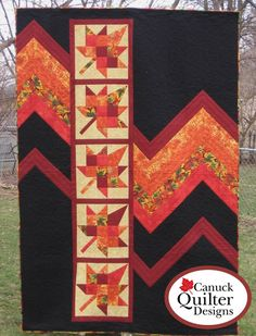 Pieced lap and throw and twin for Fall. Blaze Quilt Pattern CQD-5475e by Canuck Quilter Designs - Joanne Kerton. Check out more of our quilt patterns. https://www.pinterest.com/quiltwomancom/quilts/ Subscribe to our mailing list for updates on new patterns and sales! https://visitor.constantcontact.com/manage/optin?v=001nInsvTYVCuDEFMt6NnF5AZm5OdNtzij2ua4k-qgFIzX6B22GyGeBWSrTG2Of_W0RDlB-QaVpNqTrhbz9y39jbLrD2dlEPkoHf_P3E6E5nBNVQNAEUs-xVA%3D%3D