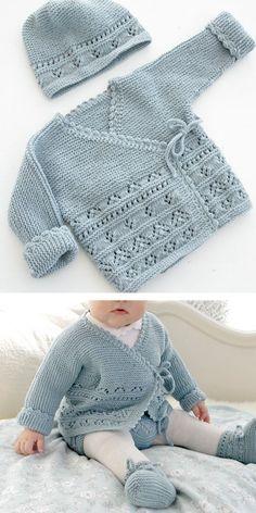 Cute knit sweaters for newborns and kids Baby Knitting Patterns Free Newborn, Baby Cardigan Knitting Pattern Free, Baby Sweater Patterns, Knit Baby Sweaters, Knitted Baby Clothes, Knitting For Kids, Baby Patterns, Warm Sweaters, Knitting Sweaters