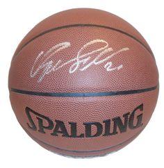 Dominique Wilkins Autographed Spalding NBA Indoor / Outdoor Basketball, Proof Photo