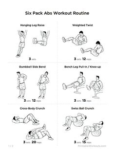 "Great ""Six Pack Abs"" Core Strength Workout Routine 