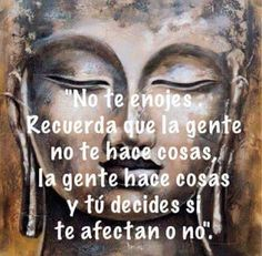 People don't do things to you ! They do things and you decide whether they affect you or not. Peace Quotes, Life Quotes, Motivational Phrases, Inspirational Quotes, Positive Phrases, Regret Quotes, Buddhist Quotes, Osho, Spanish Quotes