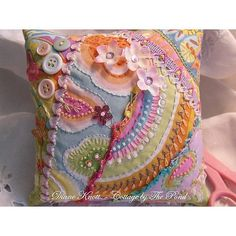 CQ Funky Pincushion - was sold in our Etsy shop - by Diane Knott
