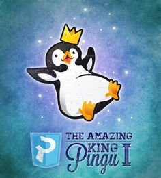 King Pingu I, our Mascot pet!   Ilustration by Ilaria T.