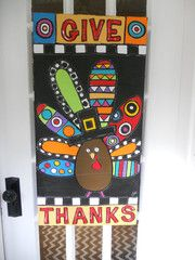 Give Thanks Turkey is so awesome! She does custom orders too! Fall Classroom Door, Classroom Fun, Classroom Crafts, Fall Crafts, Holiday Crafts, Thanksgiving Art, Thanksgiving Decorations, Autumn Decorations, Thanksgiving Activities