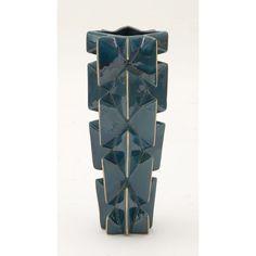 Eccentric Ceramic Vase Blue/Gold