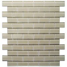 Bestview Gl Mosaic Tile 1 X 2 At Menards Tiles Backsplash