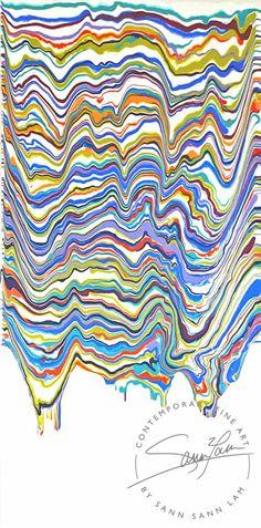 """""""Jasper"""" from the Cascade Collection by Sann Sann Lam. Painting Techniques, Jasper, Fine Art, Abstract, Prints, Inspiration, Collection, Paint Techniques, Biblical Inspiration"""