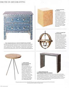 "Elle Decor ""Truth in Decorating"""