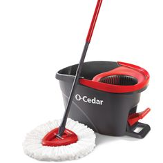 O-Cedar EasyWring Spin Mop, Bucket Floor System Deep cleaning microfiber removes House Cleaning Tips, Cleaning Hacks, Cleaning Supplies, Floor Cleaning, Cleaning Products, Cleaning Checklist, Kitchen Cleaning, College Checklist, Household Cleaning Tips