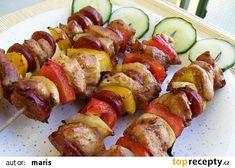 Kuřecí špízy recept - TopRecepty.cz Healthy Chicken Dinner, Ratatouille, Sausage, Grilling, Clean Eating, Food And Drink, Potatoes, Treats, Vegetables