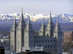 Salt Lake Temple | Click to enlarge this image of the Salt Lake Mormon Temple