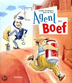Als Boef met een pot lijm uit zijn politiecel weet te ontsnappen, kost het Agent veel moeite hem te pakken te krijgen. Prentenboek met humoristische kleurenillustraties. Vanaf ca. 4 jaar.