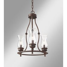 Shives 3 Light Candle-Style Chandelier