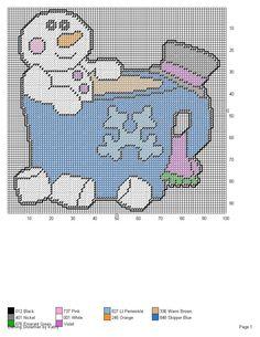 BATHING SNOWMAN by KATHY -- WALL DECOR