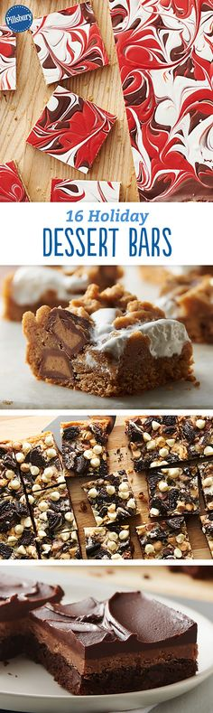 16 Holiday Dessert Bars: Easy to fix, impossible to resist. The humble bar gets a holiday makeover.