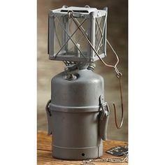 Swedish Military Surplus WWII Lantern, Gray