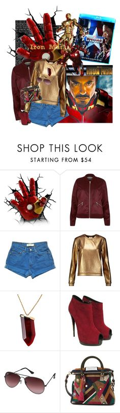 """Pick a Side"" by traceygraves ❤ liked on Polyvore featuring River Island, Levi's, Michelle Mason, Kenneth Jay Lane, Giuseppe Zanotti, Ray-Ban, Maison Margiela, men's fashion, menswear and contestentry"