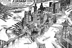Put on your pair of rear-view future specs and take a look at what the old future holds for us in 1999, as seen from 1900. This rendering of what the city might look like comes just two years after...