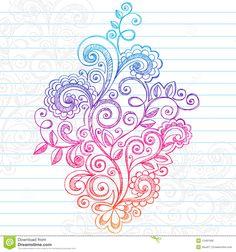 paisley bird tattoo | tattoos free download hand drawn henna mehndi tattoo paisley flowers ...