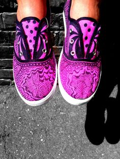 Canvas shoes hand drawn designs by lillysoles on Etsy, $30.00