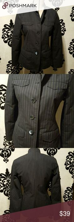 🍒NEW LISTING🍒 Faconnable French Blazer NO SIGN OF WEAR This is a woman's blazer designed in France.   navy blue and white pinstripes with incredible stitching.  Inside is a white and red lining. Does not fit like an xs.  Measurements to come.  Marking it a small for now.   100% cotton Dry clean only Faconnable  Jackets & Coats Blazers