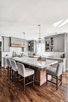 53 Best Kitchen Countertops Design Ideas People Are Doing Right Now - Home Desig. - 53 Best Kitchen Countertops Design Ideas People Are Doing Right Now – Home Design Ideas Best Kitchen Countertops, Grey Kitchen Cabinets, Kitchen Grey, Rustic Kitchen, Kitchen Decor, White Cabinets, Kitchen Backsplash, Kitchen Flooring, Kitchen Sinks
